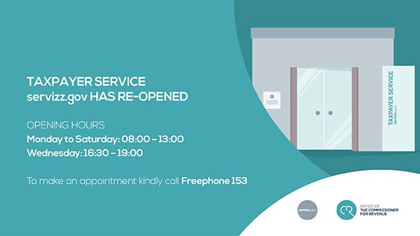 Taxpayer Service New Opening Hours